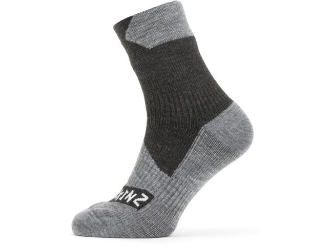 Sealskinz Waterproof All Weather Ankle Socks with Hydrostop Black/Grey Marl